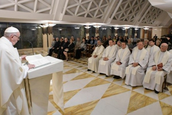 Papa celebra a missa na Casa Santa Marta - Foto: Vatican Media